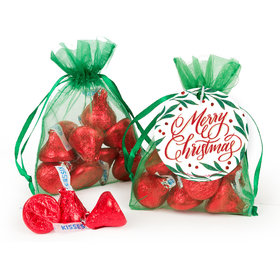 Bonnie Marcus Christmas Hershey's Kisses in Organza Bags with Gift Tag
