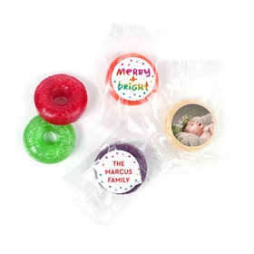 Personalized Bonnie Marcus Christmas Very Merry Photo LifeSavers 5 Flavor Hard Candy