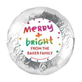 """Personalized Bonnie Marcus Christmas Very Merry 1.25"""" Stickers (48 Stickers)"""