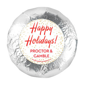 """Personalized Bonnie Marcus Christmas Holiday Celebration 1.25"""" Stickers (48 Stickers)"""
