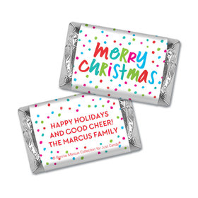Personalized Bonnie Marcus Christmas Polkadot Party Hershey's Miniatures