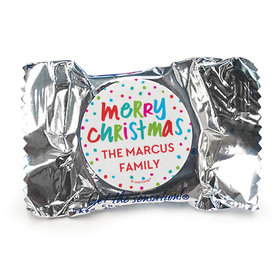 Personalized Bonnie Marcus Christmas Polkadot Party York Peppermint Patties