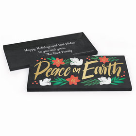 Deluxe Personalized Christmas Peace on Earth Candy Bar Favor Box