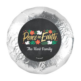 """Personalized Bonnie Marcus Christmas Peace on Earth 1.25"""" Stickers (48 Stickers)"""