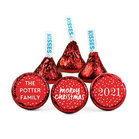 Personalized Bonnie Marcus Christmas Jolly Red Hershey's Kisses (50 pack)