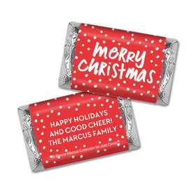 Personalized Bonnie Marcus Christmas Jolly Red Mini Wrappers Only
