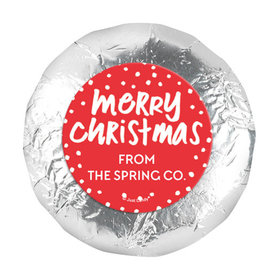 """Personalized Bonnie Marcus Christmas Jolly Red 1.25"""" Stickers (48 Stickers)"""