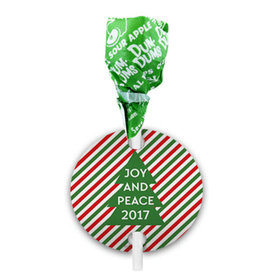 Personalized Christmas Ho Ho Ho's Dum Dums with Gift Tag (75 pops)