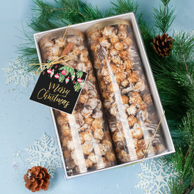 Personalized Christmas Ornaments Gourmet Popcorn 2pk Gift Box with Tag