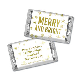 Personalized Bonnie Marcus Christmas Glittery Gold Hershey's Miniatures