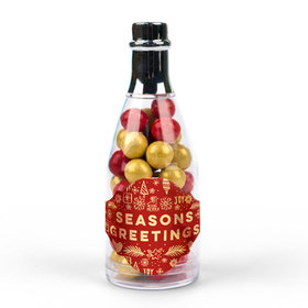 Bonnie Marcus Seasons Greetings Champagne Bottle with Sixlets (25 Pack)