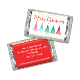 Personalized Bonnie Marcus Christmas Shimmering Pines Hershey's Miniatures