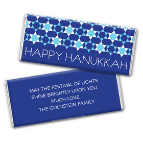 Personalized Bonnie Marcus Hanukkah Quilt Chocolate Bar & Wrapper