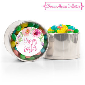 Easter Pink Flowers Spring Mix Jelly Beans Medium Plastic Tin