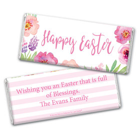 Bonnie Marcus Collection Easter Pink Flowers Chocolate Bar Wrappers