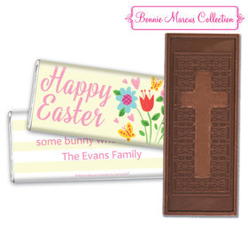 Bonnie Marcus Collection Easter Spring Flowers Embossed Chocolate Bar & Wrapper