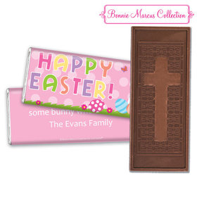 Bonnie Marcus Collection Easter Pink Dots Embossed Chocolate Bar & Wrapper