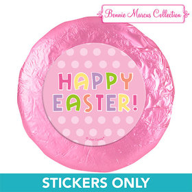 "Bonnie Marcus Collection Easter Pink Dots 1.25"" Stickers (48 Stickers)"