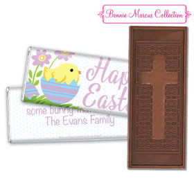 Bonnie Marcus Collection Easter Purple Flowers Embossed Chocolate Bar & Wrapper