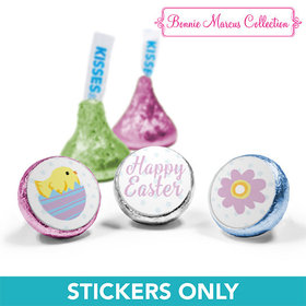 "Bonnie Marcus Collection Easter Purple Flowers 3/4"" Sticker (108 Stickers)"