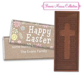 Bonnie Marcus Collection Easter Pastel Flowers Embossed Chocolate Bar & Wrapper