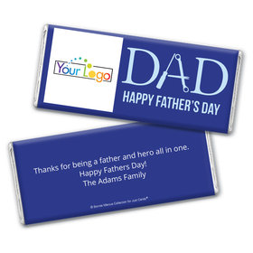 Personalized Bonnie Marcus Collection Father's Day Add Your Logo Chocolate Bar & Wrapper