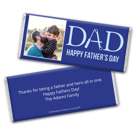 Personalized Bonnie Marcus Collection Father's Day Photo Chocolate Bar & Wrapper