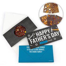 Personalized Bonnie Marcus Father's Day Tools Gourmet Infused Belgian Chocolate Bars (3.5oz)