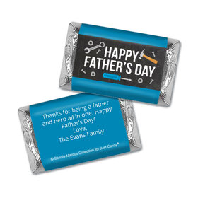 Bonnie Marcus Collection Personalized Father's Day Hershey's Miniatures Wrappers Tools