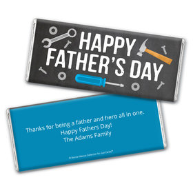 Personalized Bonnie Marcus Collection Father's Day Tools Chocolate Bar & Wrapper