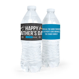 Personalized Bonnie Marcus Father's Day Tools Water Bottle Labels (5 Labels)