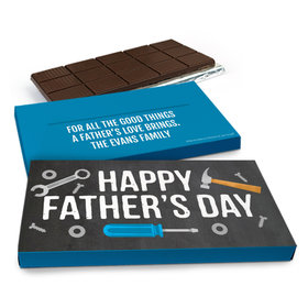 Deluxe Personalized Father's Day Tools Chocolate Bar in Gift Box (3oz Bar)
