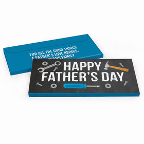 Deluxe Personalized Father's Day Tools Candy Bar Favor Box