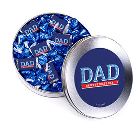 Bonnie Marcus Collection Plaid Father's Day Silver Gift Tin Hershey's Mix