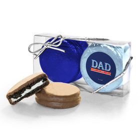 Bonnie Marcus Collection Father's Day Plaid 2PK Chocolate Covered Oreo Cookies