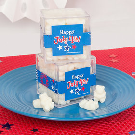 4th of July JUST CANDY® favor cube with Gummy Bears