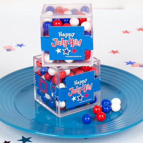 4th of July JUST CANDY® favor cube with Sixlets Chocolate