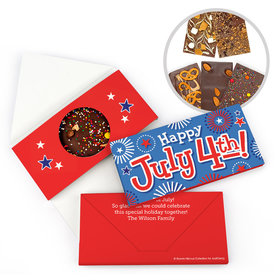 Personalized Bonnie Marcus independence Day Fireworks Gourmet Infused Belgian Chocolate Bars (3.5oz)