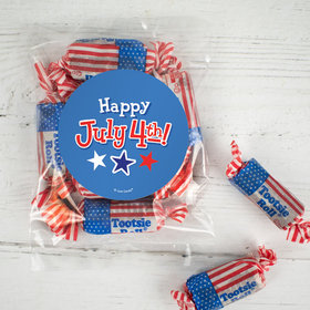 Patriotic Happy July 4th! Candy Bags with Tootsie Roll Stars & Stripes Midgees
