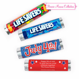 Personalized Bonnie Marcus Independence Day Fireworks Lifesavers Rolls (20 Rolls)