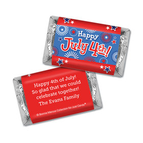 Personalized Bonnie Marcus Fireworks Independence Day Hershey's Miniatures Wrappers