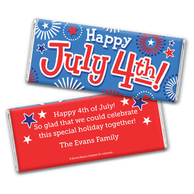 Personalized Bonnie Marcus Independence Day Fireworks Chocolate Bar & Wrapper