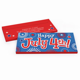 Deluxe Personalized Independence Day Fireworks Candy Bar Favor Box