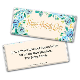 Bonnie Marcus Collection Mother's Day Personalized Chocolate Bar Chocolate & Wrapper Here's Something Blue Mother's Day Favors