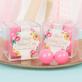 Personalized Mother's Day JUST CANDY® favor cube with Premium Malted Milk Balls