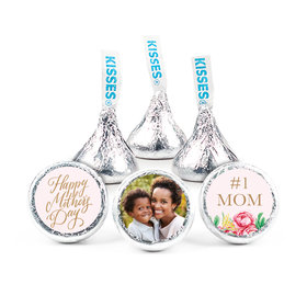 """Personalized Bonnie Marcus Mother's Day Pink Flowers 3/4"""" Stickers (108 Stickers)"""
