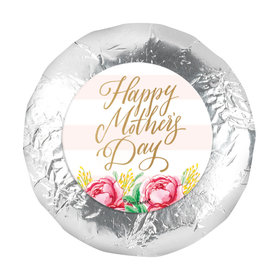 Bonnie Marcus Mother's Day Pink Flowers 1.25in Stickers (48 Stickers)