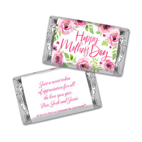 Personalized Bonnie Marcus Mother's Day Hershey's Miniatures Wrappers Pink Floral