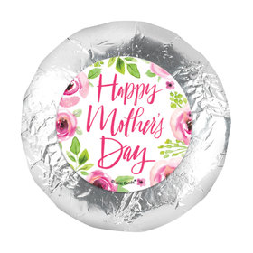 Bonnie Marcus Mother's Day Pink Floral 1.25in Stickers (48 Stickers)