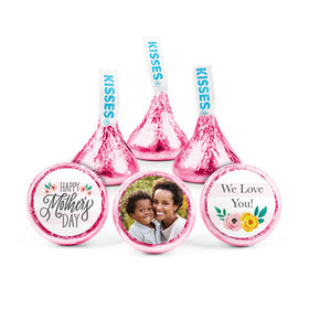 Personalized Bonnie Marcus Mother's Day Floral Photo Hershey's Kisses (50 pack)